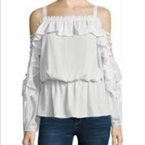 Off the Shoulder - Lace Sleeve Blouse